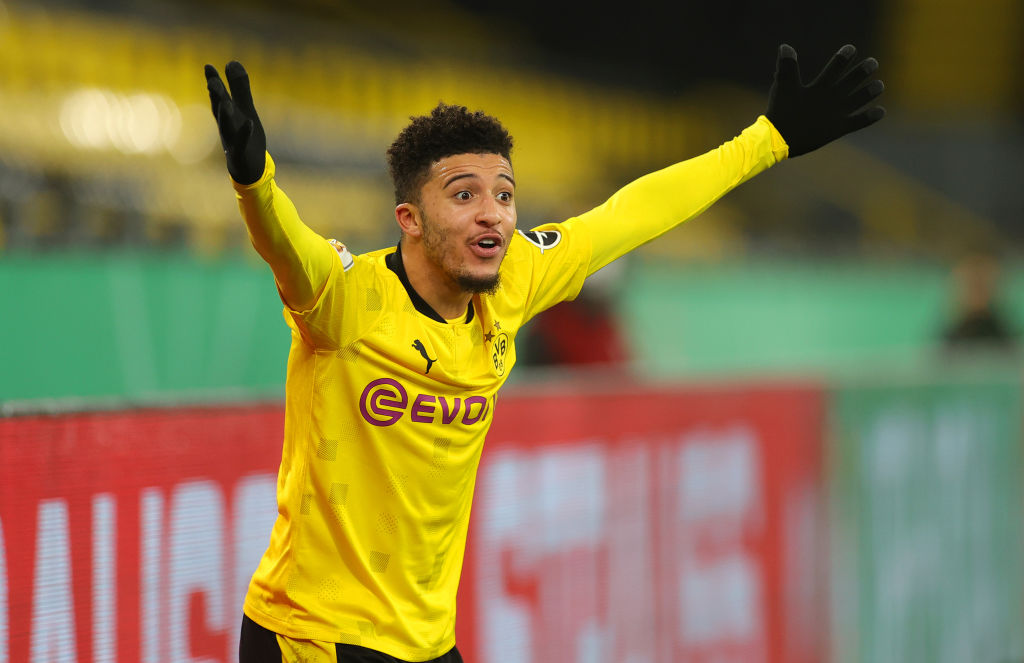 Liverpool target Jadon Sancho is no longer being chased by Man United