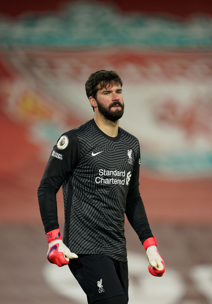 Jürgen Klopp has defended Alisson Becker after his calamitous performance against Man City.