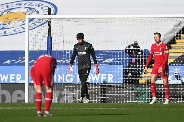 Leicester City v Liverpool - Premier League - Alisson is struggling at the moment.