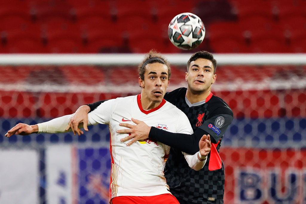 RB Leipzig v Liverpool FC  - UEFA Champions League Round Of 16 Leg One - Ozan Kabak.