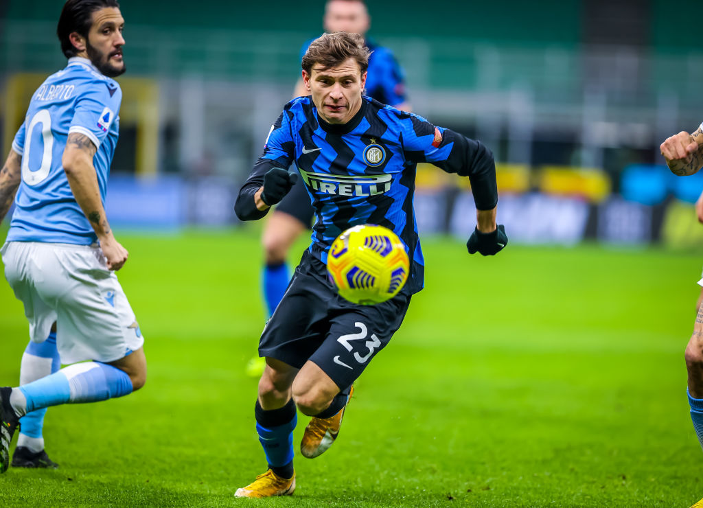 Nicolo Barella of Inter Milan in action during the Serie A
