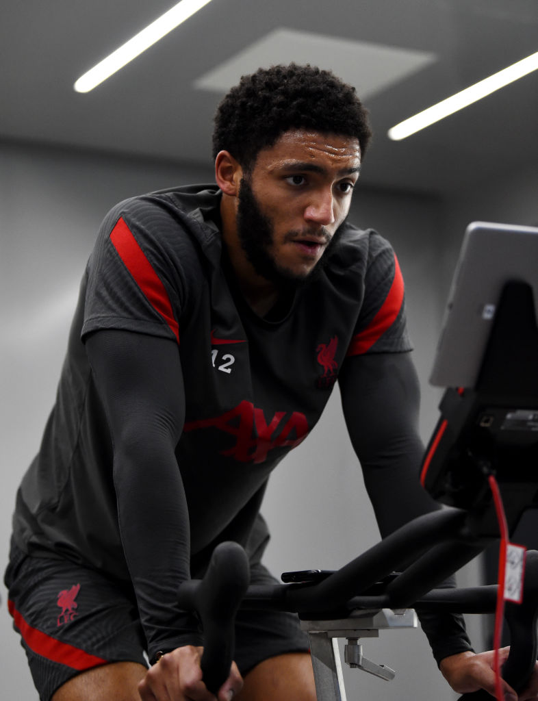 Some Liverpool fans have reacted to footage of Joe Gomez in training.