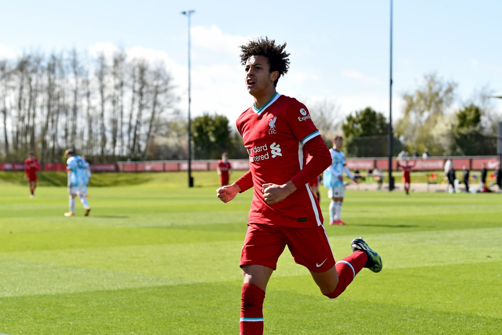 Kaide Gordon netted a brace for the Liverpool academy this week