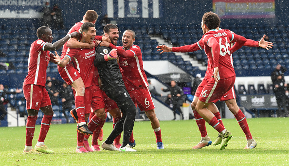 Alisson Becker scored a headed goal against West Brom to win the game for Liverpool
