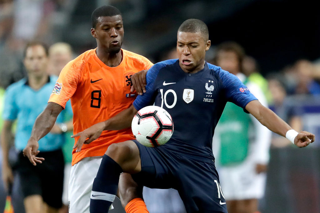 Liverpool fans are hoping Gini Wijnaldum can convince Kylian Mbappe to leave PSG for Liverpool