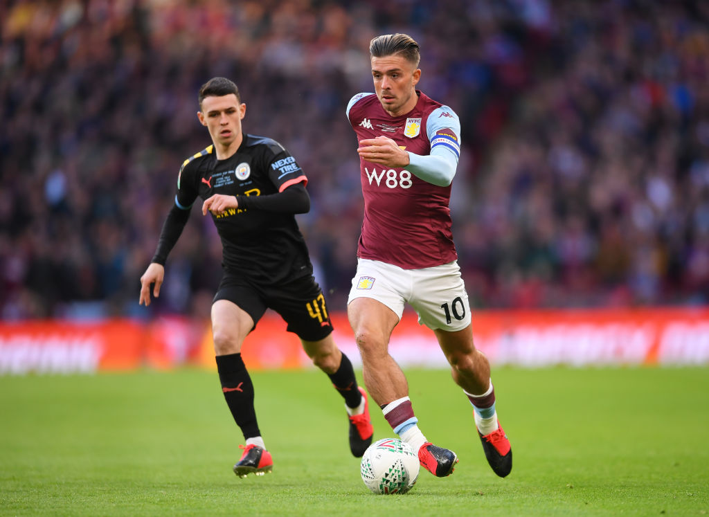 Jack Grealish aimed a dig at Man City in front of Phil Foden.