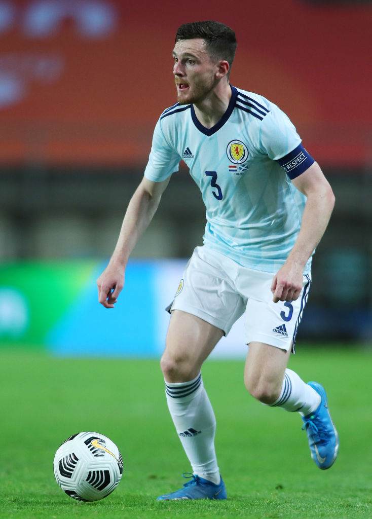An Andy Robertson cross against the Netherlands has got fans talking.