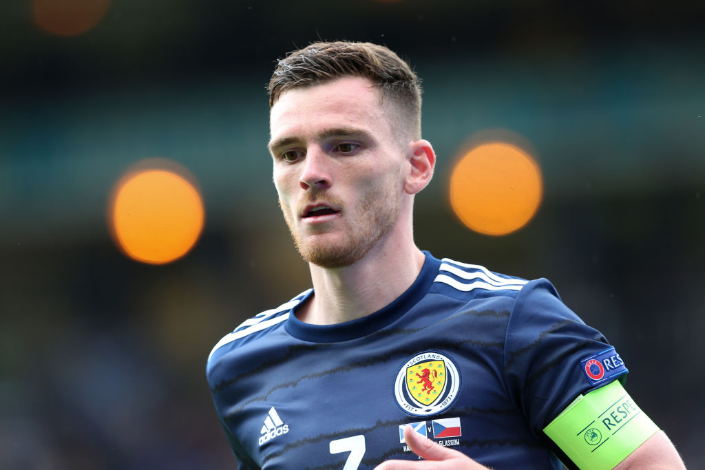 Andy Robertson stood out for Scotland v Czech Republic.