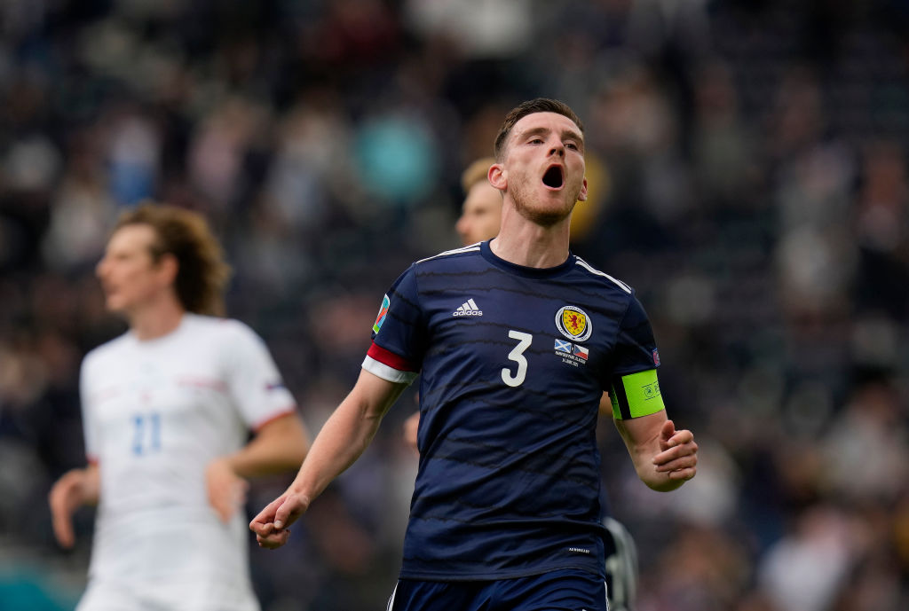 Robertson was the star of the show in Scotland v Czech Republic