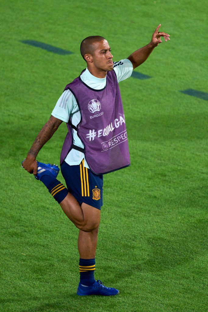 Thiago remained on the bench for Spain against Poland