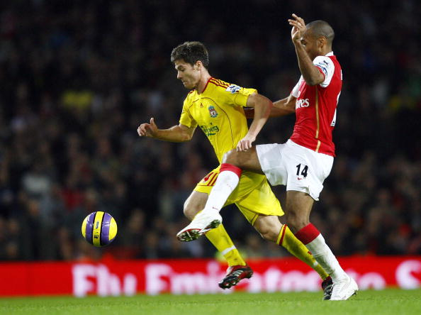 Liverpool's 2021/22 third kit is yellow, like this 2006/07 kit seen on Xabi Alonso