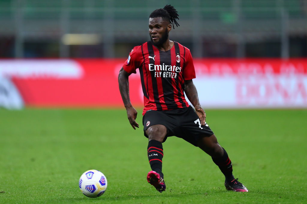 Franck Kessie of Ac Milan  in action during the Serie A