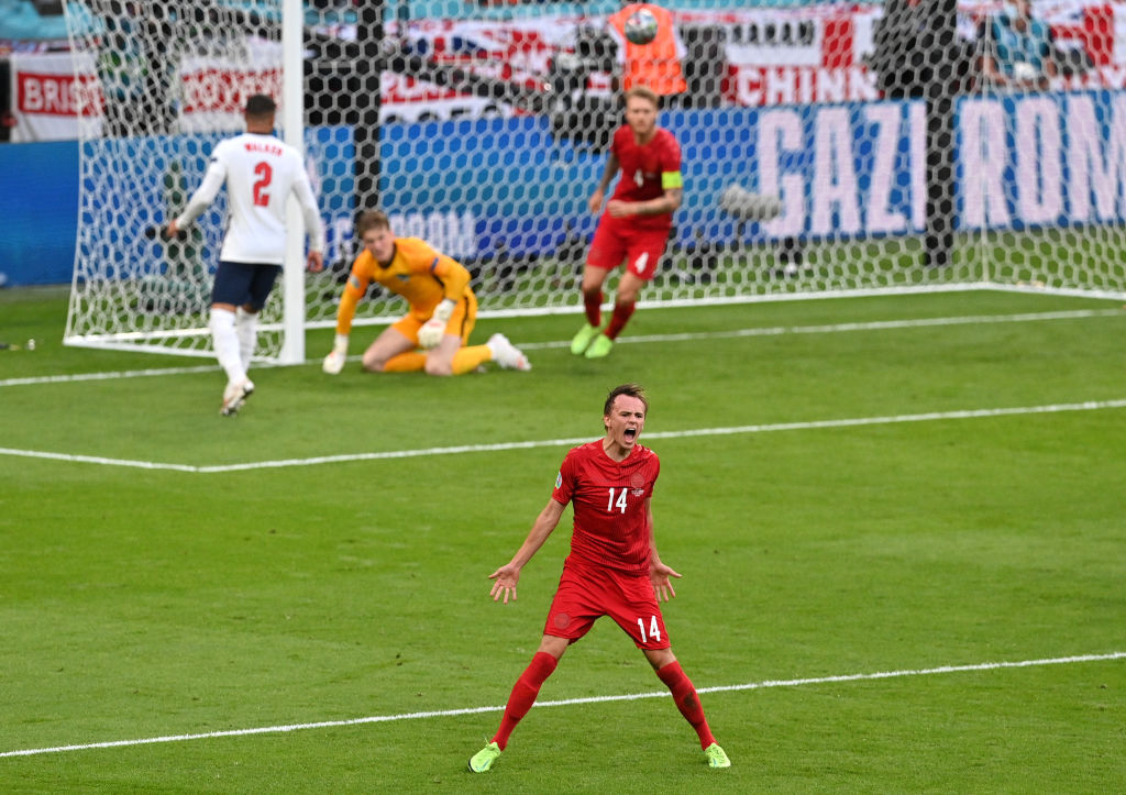 Damsgaard earned attention from Liverpool fans at Euro 2020