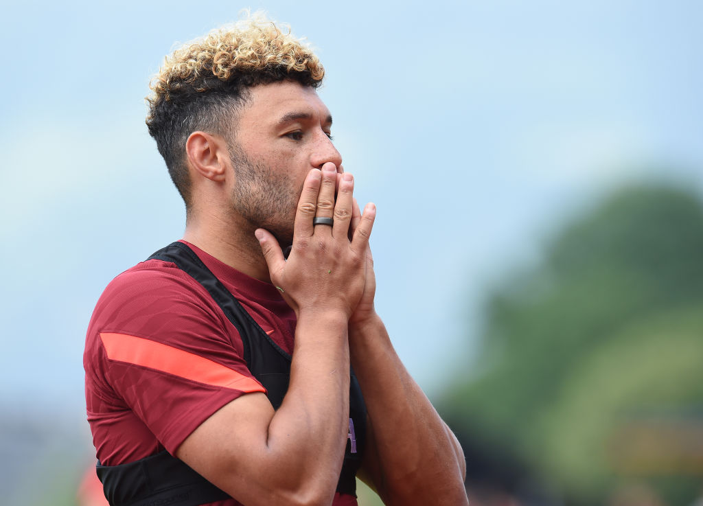 Liverpool may have dropped a transfer hint by playing Alex Oxlade-Chamberlain as a striker