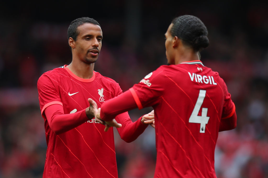 Van Dijk and Matip are likely to feature against Burnley
