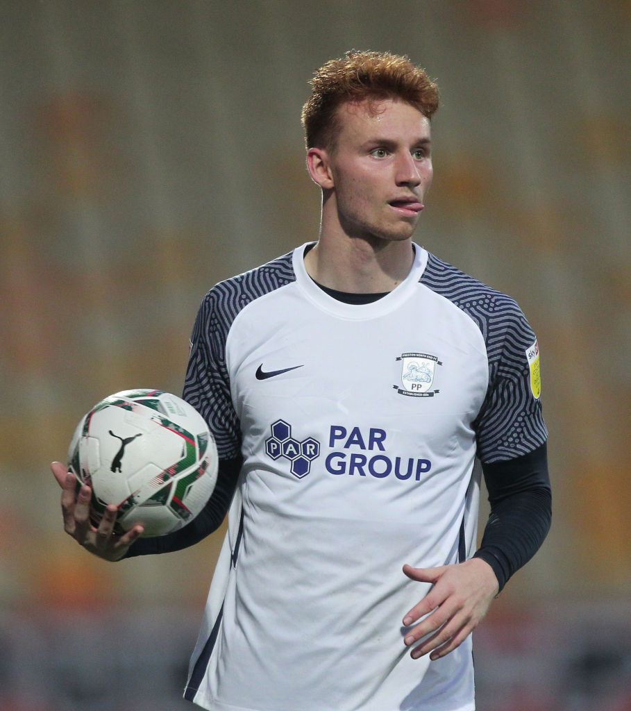 It looks as though Sepp van den Berg is being used as a right winger by Preston North End