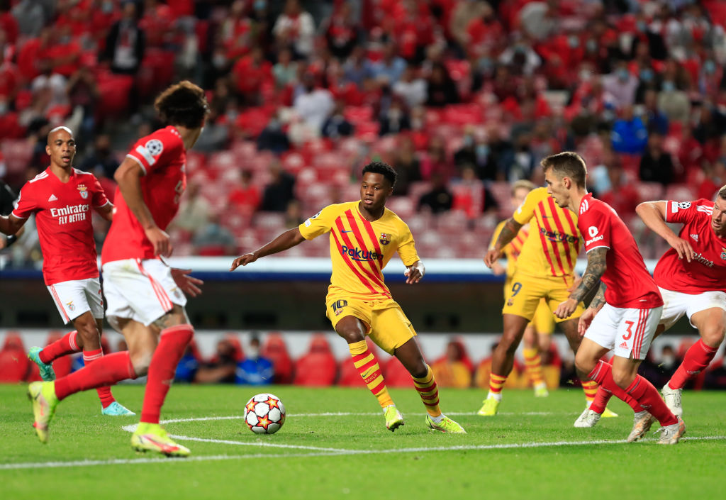 were Liverpool watching Fati in the Benfica v Barcelona game?