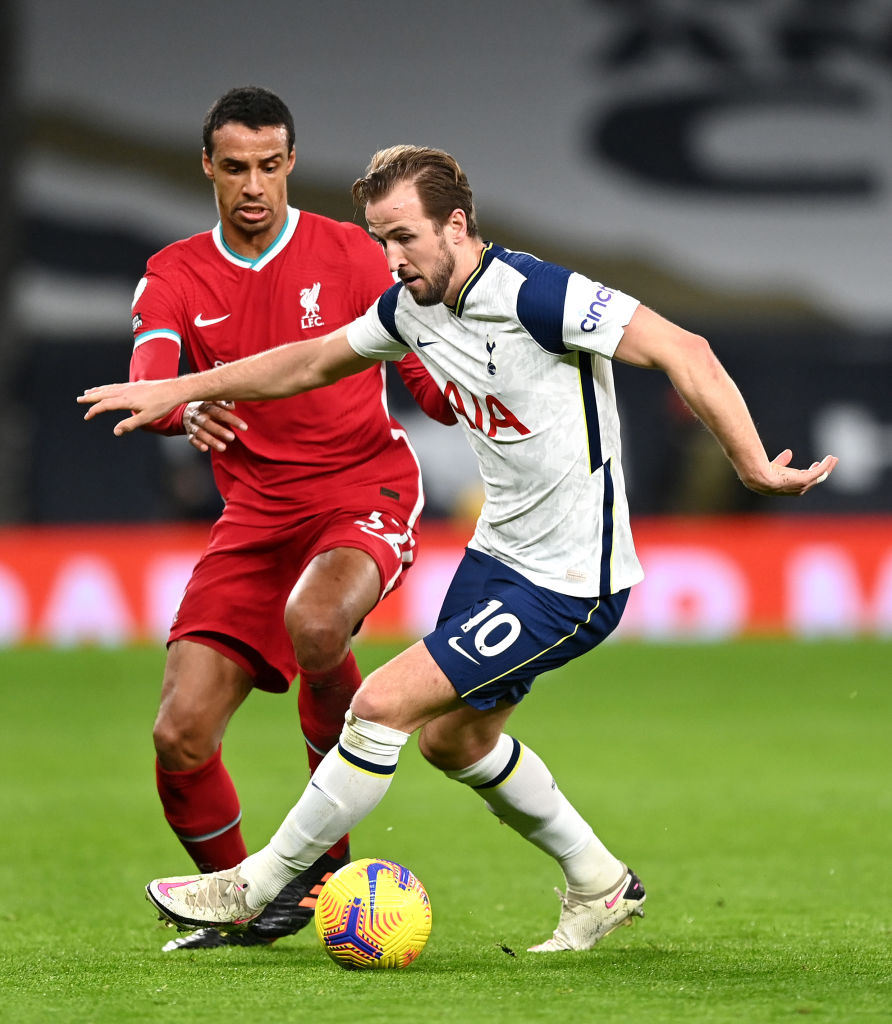 Joel Matip has more touches in the opposition box than Harry Kane this season