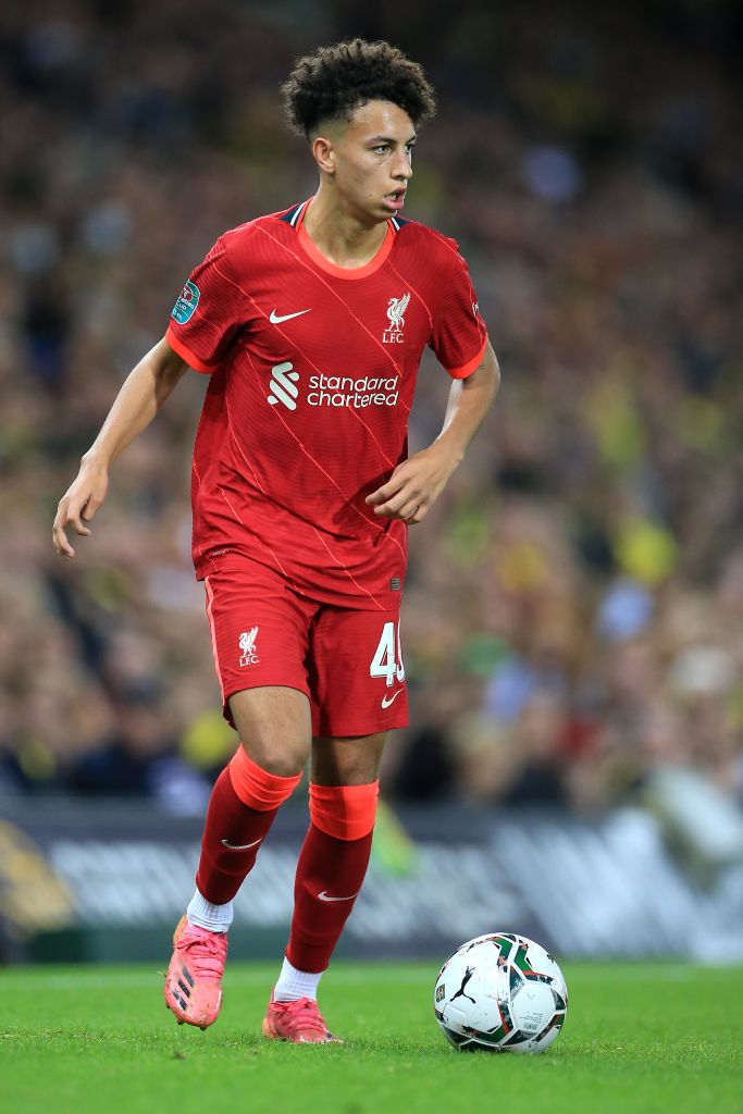 Kaide Gordon with Liverpool first team ahead of Porto clash